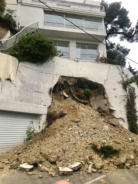 2019-11-28: glissement de terrain à Nice